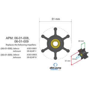 Premium Impeller kit PN 06-01-008